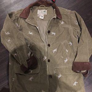 LL BEAN jacket with Dalmatians